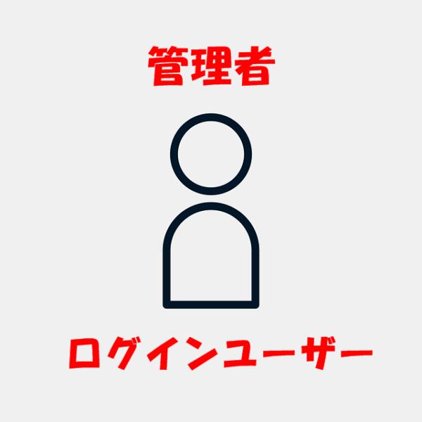 管理者とログインユーザー